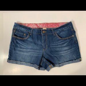 Faded Glory Jean Shorts Size 18